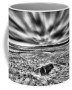 Drama At Freshwater West Mono Coffee Mug