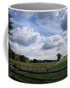 Dramatic Blustery Sky Over The Hayfield Coffee Mug