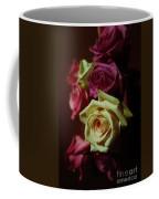 Dramatic Purple And Yellow Roses Coffee Mug