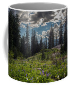Dramatic Rainier Flower Meadows Coffee Mug