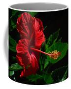 Dramatic Red Hibiscus Coffee Mug