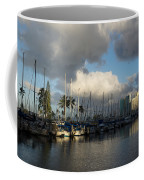 Dramatic Tropical Storm Light Over Honolulu Hawaii  Coffee Mug