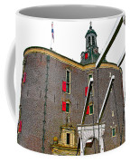 Drawbridge And Tower In Enkhuizen-netherlands Coffee Mug