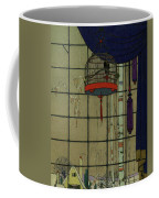Drawing Of A Bid In A Cage In Front Of A Window Coffee Mug
