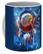 Dream Catcher - Eagle Red White Blue Coffee Mug