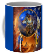 Dream Catcher - Wolf Dreams Patriotic Coffee Mug