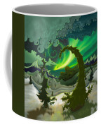 Dream Landscapes Aurora Green Coffee Mug