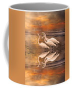 Dreaming Of Egrets By The Sea Reflection Coffee Mug
