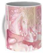 Dreamy Baby Pink Merry Go Round Carousel Horses - Pink Carousel Horses Baby Girl Nursery Decor Coffee Mug