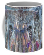 Dreamy Blue Up-dog Yoga Art Coffee Mug