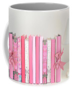 Dreamy Romantic Books Collection - Shabby Chic Cottage Chic Pastel Pink Books Photograph Coffee Mug by Kathy Fornal