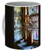 Dried Flowers On Windowsill Coffee Mug