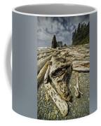 Driftwood And Sea Stacks On Ruby Beach Coffee Mug