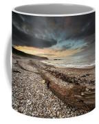 Driftwood Laying On The Gravel Beach Coffee Mug