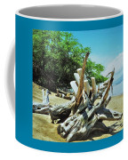 Driftwood On A Maui Beach Coffee Mug