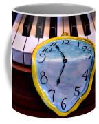 Dripping Clock On Piano Keys Coffee Mug by Garry Gay