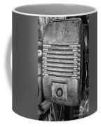 Drive In Movie Speaker In Black And White Coffee Mug