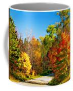 Driving Through Autumn Coffee Mug