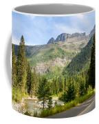 Driving Through Glacier National Park Coffee Mug