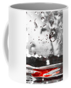Drops Of Water With Red Coffee Mug