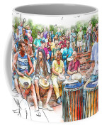 Drum Circle Of Friends Coffee Mug