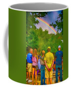 Drum Circle Rainbow Coffee Mug