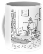 Drunk And Orderly -- A Woman Reads A Book Coffee Mug