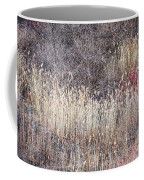 Dry Grasses And Bare Trees In Winter Forest Coffee Mug