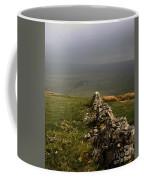 Drystone Wall  Misty Day Kettlewell Wharfedale North Yorkshire England Coffee Mug