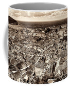 Dubrovnik Rooftops And Lokrum Island Against The Dalmatian Adriatic Sepia Coffee Mug