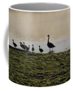 Duck Family Panorama Coffee Mug by Bill Cannon