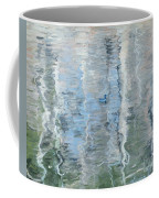 Duck On Pond, Abstract Coffee Mug