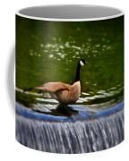 Duck On The River Wye Waterfall - In Bakewell Peak District - England Coffee Mug