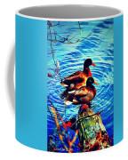 Ducks On A Log Coffee Mug