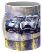 Duel Ac Cobra And Shelby Daytona Coupe 1965 Coffee Mug