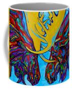 Duelling Moose Coffee Mug