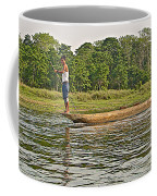 Dugout Canoe In The Rapti River In Chitin National Park-nepal Coffee Mug