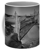 Dune Erosion Fence Outer Banks Nc B And W Img_3761 Coffee Mug