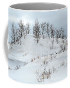 Dune Trees And Snow Coffee Mug