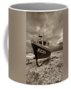 Dungeness Boat Under Stormy Skies Coffee Mug