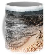 Duotone Beach Scene Coffee Mug