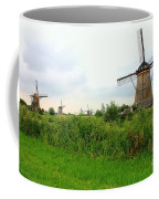 Dutch Landscape With Windmills Coffee Mug by Carol Groenen