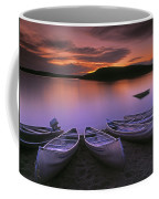 D.wiggett Canoes On Shore, Pink And Coffee Mug