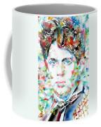 Dylan Thomas - Watercolor Portrait Coffee Mug