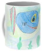 E' S Blue Fish Coffee Mug
