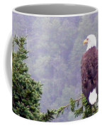 Eagle Looking For Breakfast On A Misty Morning Coffee Mug
