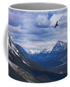 Eagle Over Peyto Lake Coffee Mug