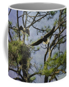 Eagle Pair And Nest Coffee Mug