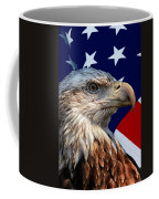 Eagle With Us American Flag Coffee Mug