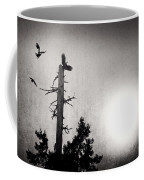 Eagles And Old Tree In Sunset Silhouette Coffee Mug